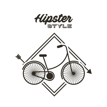 retro hipster style element icon vector illustration design Çizim