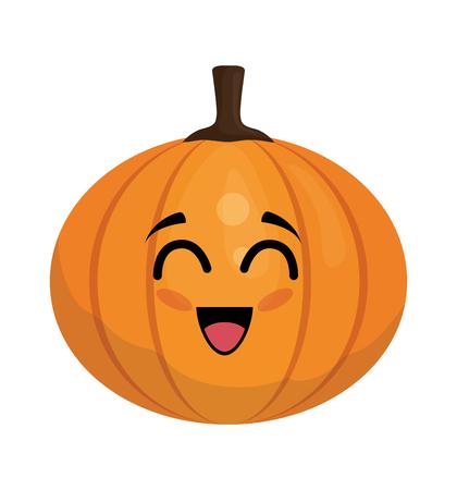 pumpkin vegetables comic character vector illustration design