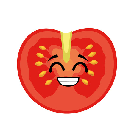 tomato vegetables comic character vector illustration design Çizim