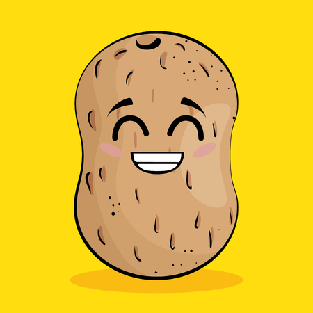 potato vegetable comic character vector illustration design
