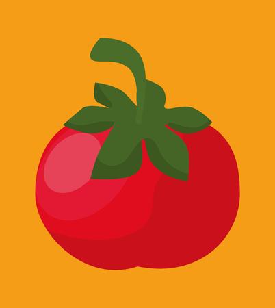 tomato fresh and healthy vegetable vector illustration design