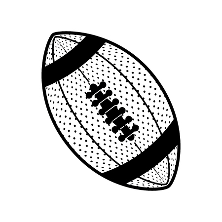 american football sport ball isolated icon vector illustration design