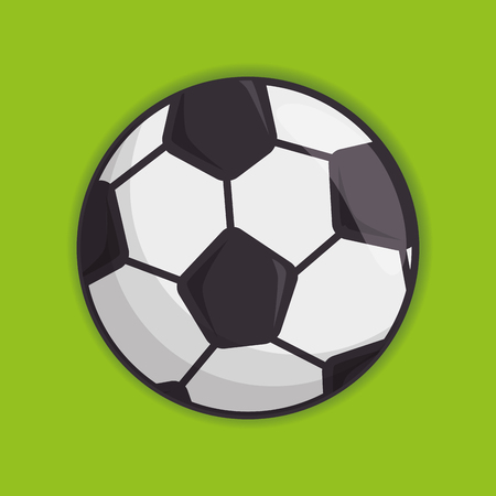 サッカー スポーツ ボール分離アイコン ベクトル イラスト デザイン