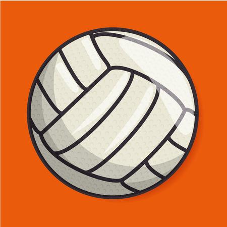 バレーボール スポーツ ボール分離アイコン ベクトル イラスト デザイン  イラスト・ベクター素材