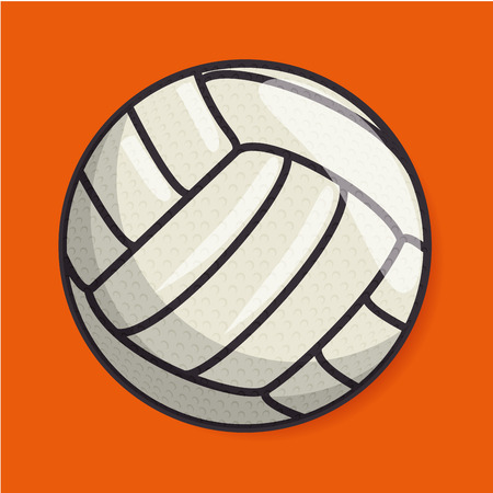 handball: volleyball sport ball isolated icon vector illustration design Illustration