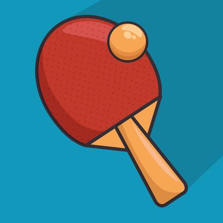 table tennis racket icon vector illustration design Ilustrace