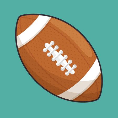 Diseño del ejemplo del vector del icono del balón de fútbol americano del deporte aislado Foto de archivo - 77301711