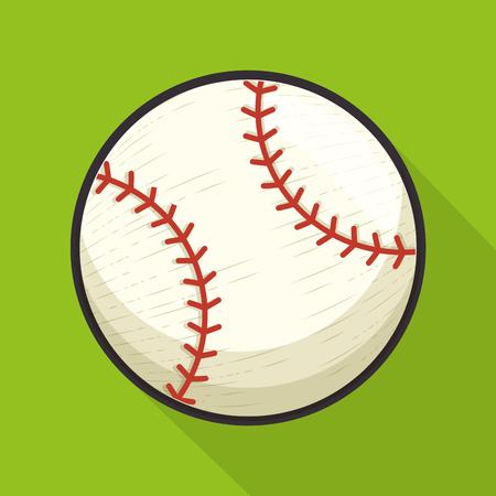 野球スポーツ ボール分離アイコン ベクトル イラスト デザイン  イラスト・ベクター素材