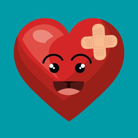 heart character healthcare icon vector illustration design Illustration