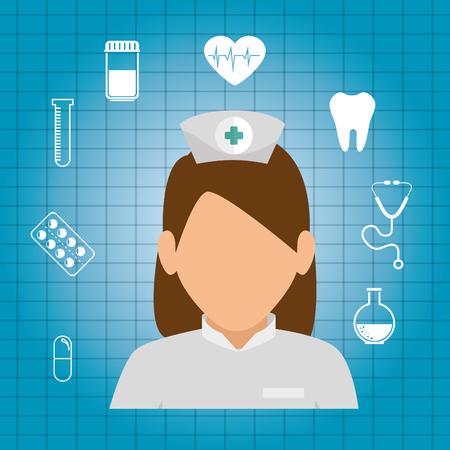 professional doctor avatar character vector illustration design