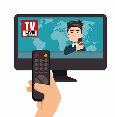 nieuws presentator avatar karakter vector illustratie ontwerp