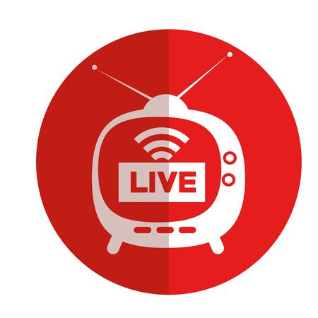 tv media live streaming vector illustration design