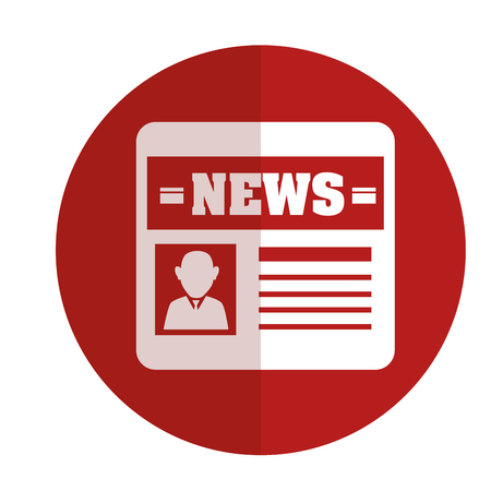 news paper isolated icon vector illustration design