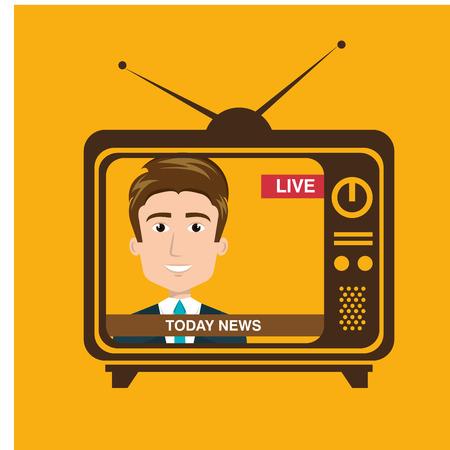 news presenter avatar character vector illustration design