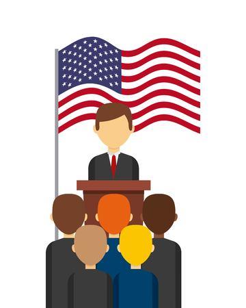 미국 대통령 투표 개념 벡터 일러스트 레이 션 디자인