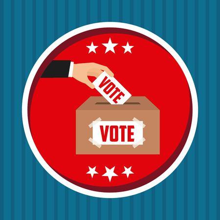presidential: US presidential voting concept vector illustration design