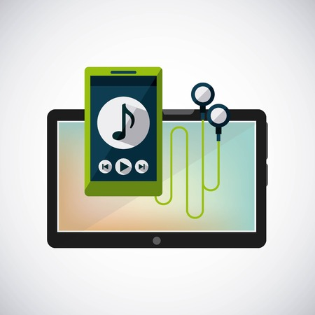 tablet technology device icon vector illustration design