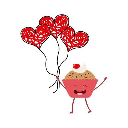 Menu caractère alimentaire icônes conception illustration vectorielle Banque d'images - 77302426