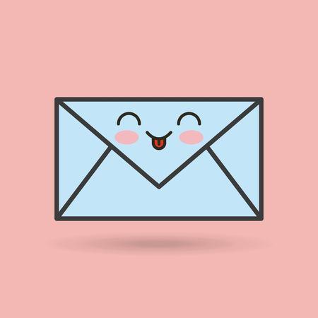 envelope character vector illustration design