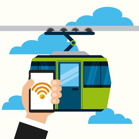 wifi service in transport terminal vector illustration design Stok Fotoğraf - 77302478