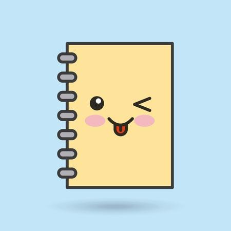 notebook character vector illustration design Ilustração
