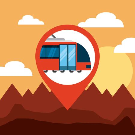 pin location conveyance icon vector illustration design