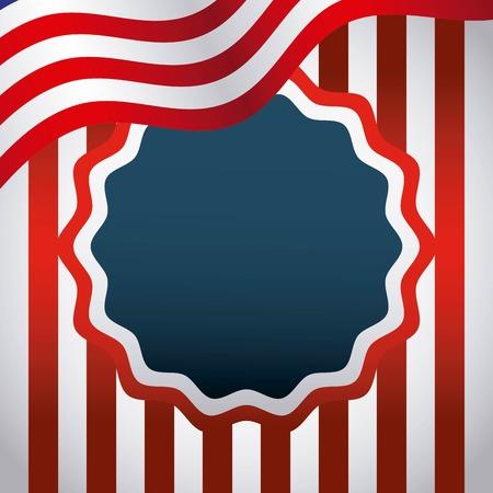 Verenigde Staten van Amerika emblem vector illustratie ontwerp Stock Illustratie