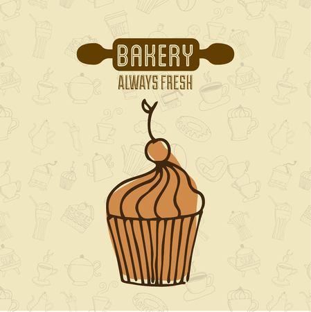 bakery shop always fresh products vector illustration design Illustration