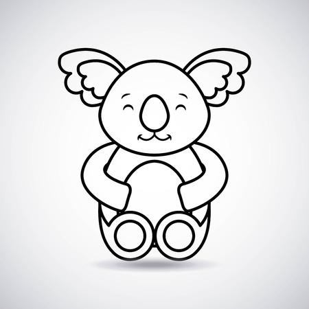 het tedere leuke ontwerp van de het pictogram vectorillustratie van de koalakaart