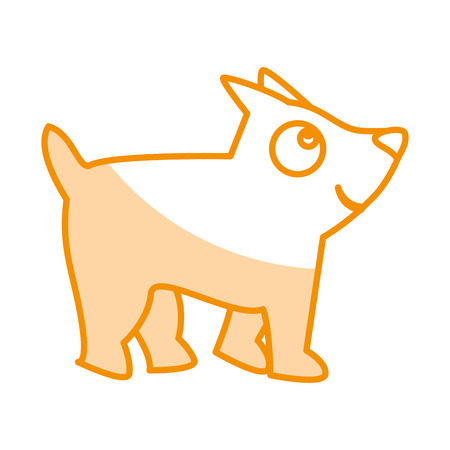 cute little dog mascot vector illustration design