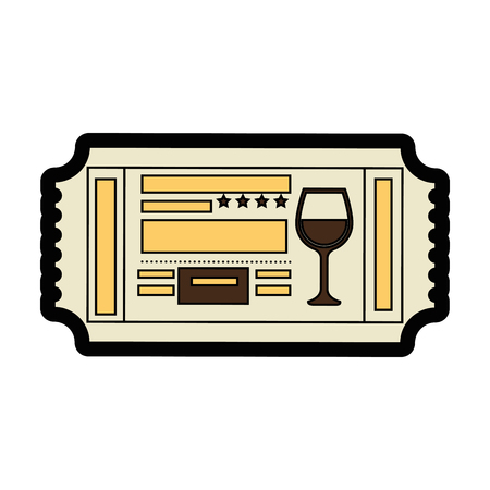 movie theater: Entrance ticket paper icon vector illustration graphic design