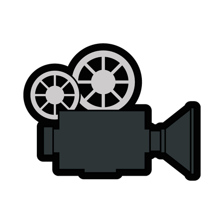 Vintage camcorder equipment icon vector illustration graphic design