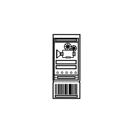 Entrance ticket paper icon vector illustration graphic design