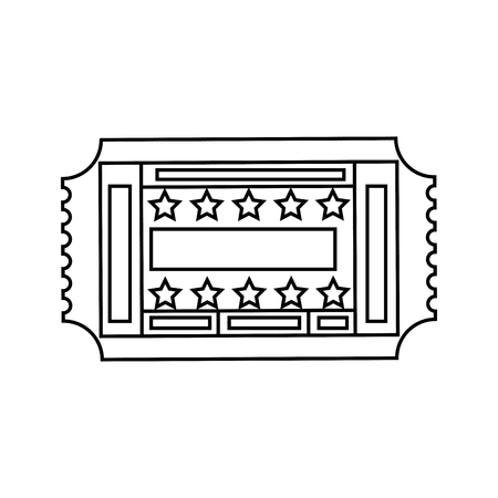 Eintrittskarte Papier Icon Vektor-Illustration Grafik-Design Standard-Bild - 77330271