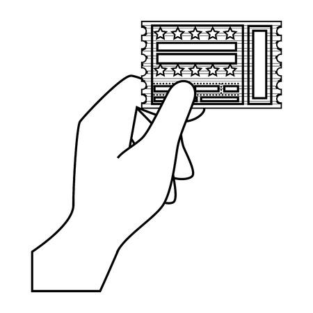 Eintrittskarte Papier Icon Vektor-Illustration Grafik-Design Standard-Bild - 77330282