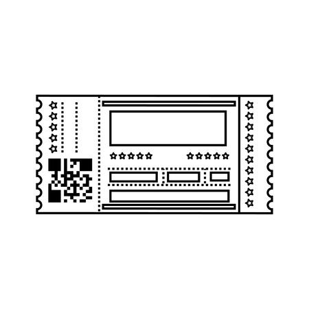 Entrance ticket paper icon vector illustration graphic design