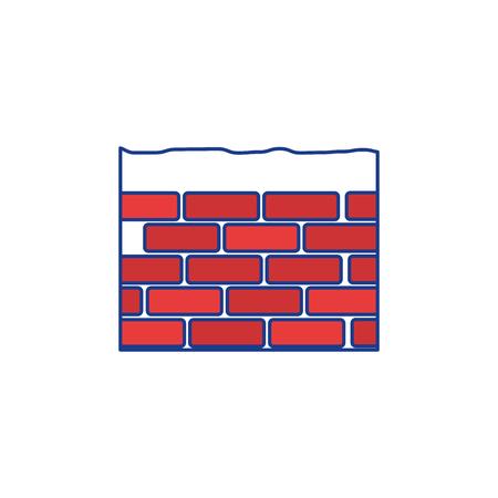 Construction brick isolated icon vector illustration graphic design icon vector illustration graphic design