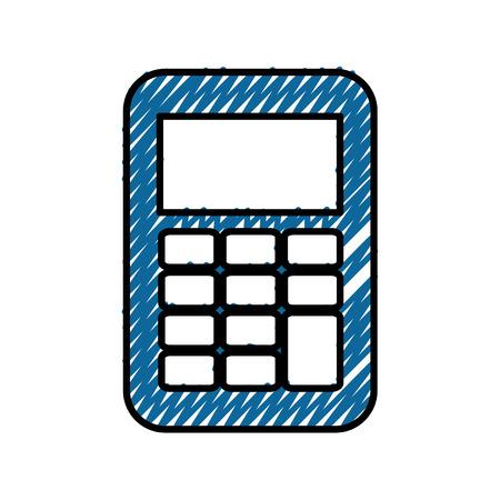 Calculator math device icon vector illustration graphic design Illustration