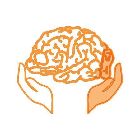 Human brain symbol icon vector illustration graphic design Stock Vector - 77342799