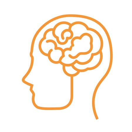 Symbole du cerveau humain icône illustration vectorielle design graphique