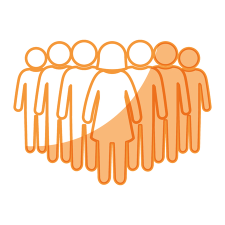 Group of people icon vector illustration graphic design