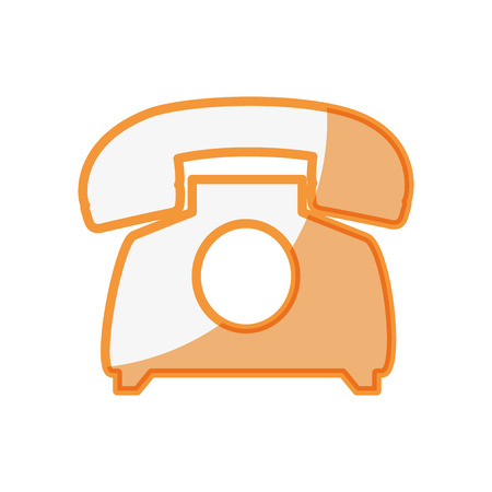 Telephone communication device icon vector illustration graphic design Imagens - 77342862