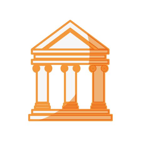 Bankgebouw symbool pictogram vector illustratie grafisch ontwerp