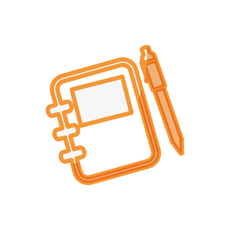 Address book with pen icon vector illustration graphic design