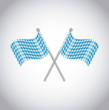 oktoberfest flag decoration isolated vector illustration design