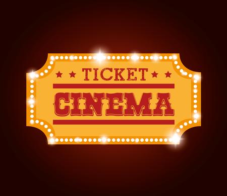 ticket cinema isolated icon vector illustration design Illustration