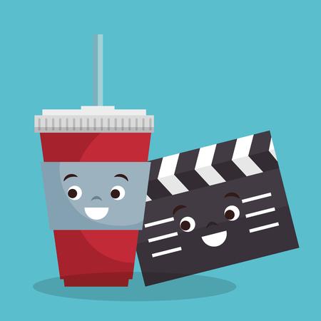 cinema entertainment elements icons vector illustration design Illustration