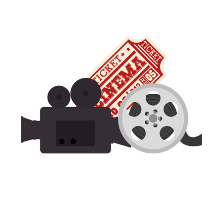 Cinema entertainment elements icons vector illustration design