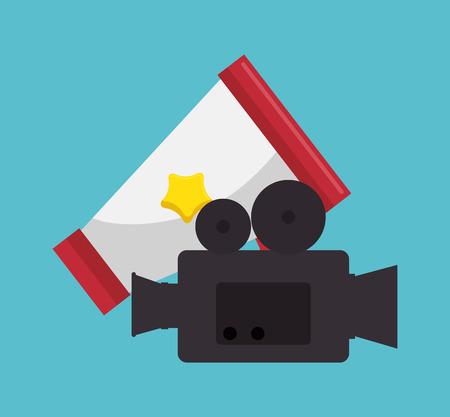 Cinema entertainment elements icons vector illustration design