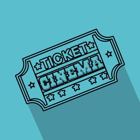 Ticket cinema isolated icon vector illustration design